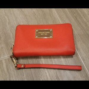 $78 MICHAEL KORS Red Saffiano Wallet